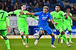 01.12.2018, wirsol Rhein-Neckar-Arena, Sinsheim, GER, 1 FBL, TSG 1899 Hoffenheim vs FC Schalke 04, <br /> <br /> DFL REGULATIONS PROHIBIT ANY USE OF PHOTOGRAPHS AS IMAGE SEQUENCES AND/OR QUASI-VIDEO.<br /> <br /> im Bild: Joelinton (TSG Hoffenheim #34) gegen Sebastian Rudy (FC Schalke 04 #13) und Weston McKennie (FC Schalke 04 #2)<br /> <br /> Foto © nordphoto / Fabisch