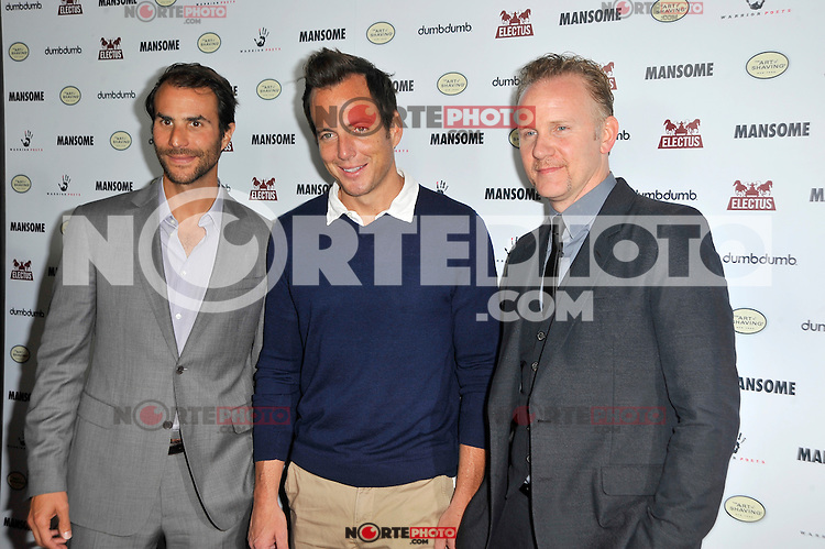 Ben Silverman, Will Arnett and Morgan Spurlock at the premiere of Morgan Spurlock's 'Mansome' at the ArcLight Cinemas on May 9, 2012 in Hollywood, California. ©mpi35/MediaPunch Inc.