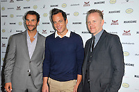 Ben Silverman, Will Arnett and Morgan Spurlock at the premiere of Morgan Spurlock's 'Mansome' at the ArcLight Cinemas on May 9, 2012 in Hollywood, California. © mpi35/MediaPunch Inc.