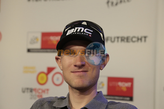 Tejay Van Garderen (USA) BMC Racing Team press conference before the start of the 2015 Tour de France in Utrecht, Netherlands. 3rd July 2015.<br /> Photo: Eoin Clarke www.newsfile.ie