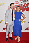 HOLLYWOOD, CA - JUNE 25: Paul Rudd (L) and Julie Yaeger arrive at the Premiere Of Disney And Marvel's 'Ant-Man And The Wasp' at the El Capitan Theatre on June 25, 2018 in Hollywood, California.