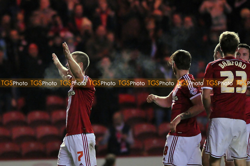 Grant Leadbitter of Middlesbrough celebrates scoring Boro's third goal - Middlesbrough vs Norwich City - Sky Bet League Championship Football at the Riverside Stadium, Middlesbrough - 04/11/14 - MANDATORY CREDIT: Steven White/TGSPHOTO - Self billing applies where appropriate - contact@tgsphoto.co.uk - NO UNPAID USE