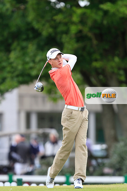 Rowan Lester (Hermitage) on the 1st during Round 2 of the East of Ireland in the Co. Louth Golf Club at Baltray on Sunday 1st June 2014.<br /> Picture:  Thos Caffrey / www.golffile.ie
