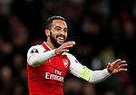 Arsenal's Theo Walcott celebrates scoring his sides second goal during the Europa League Group H match at The Emirates Stadium, London. Picture date: December 7th 2017. Picture credit should read: David Klein/Sportimage