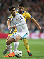 Real Madrid's Marco Asensio (l) and Juventus Football Club's Sami Khedira during Champions League Quarter-Finals 2nd leg match. April 11,2018. (ALTERPHOTOS/Acero) /NortePhoto.com
