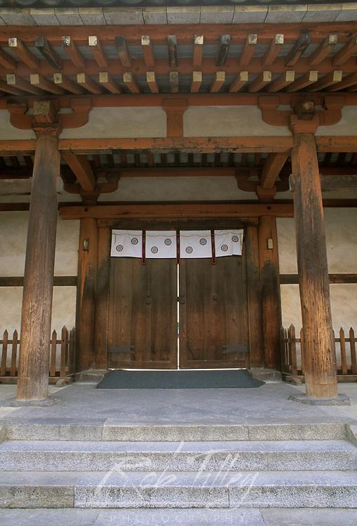 Asia, Japan, Nara, Horyuji Temple Gate