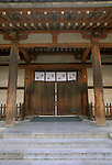 Asia, Japan, Nara, Horyuji Temple Gate