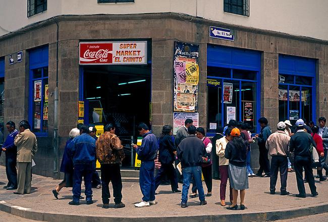 Supermarket, Cuzco, Cuzco Province, Peru, South America.