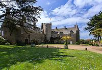 France, Manche (50), Vauville, Jardin botanique du château de Vauville, le château