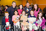 Teddy fair<br /> -------------<br /> Supporting the fundraiser for the Kerry parents and friends at the Castleisland Community centre last Friday night after buying their teddy bears were front L-R Killian Butler, Michelle Burke, Amy O'Sullivan, Coldagh O'Connor and Katelyn O'Sullivan, back L-R Tim Butler, Noelle O'Sullivan, Doreen O'Sullivan