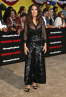 "09 August 2016 - Westwood, California - Salma Hayek. ""Sausage Party"" Los Angeles Premiere held at Regency Village Theatre. Photo Credit: Sammi/AdMedia"