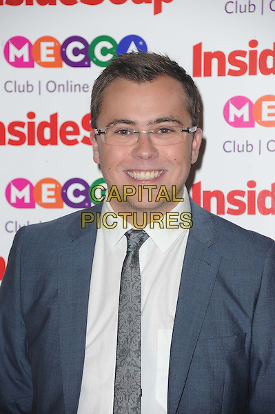 Joe Tracini <br /> Inside Soap Awards at Ministry Of Sound, London, England.<br /> 21st October 2013<br /> headshot portrait white shirt grey gray suit jacket glasses <br /> CAP/DS<br /> &copy;Dudley Smith/Capital Pictures