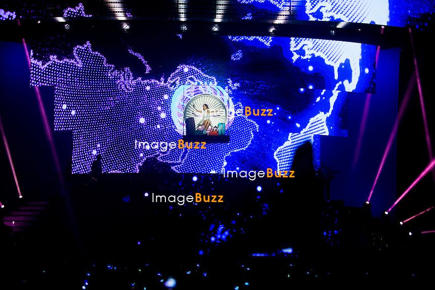 SEMI-EXCLUSIVE - Violetta alias Martina Stoessel, en concert au Palais 12 &agrave; Bruxelles, lors de sa tourn&eacute;e &quot; Violetta Live 2015 &quot;.<br /> Belgique, Bruxelles, 13 mars 2015. <br /> Violetta aka Martina Stoessel, , in concert ' Violetta Live 2015 ' at the Palais 12, in Brussels.<br /> Belgium, Brussels, 13 March 2015.