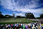 AUGUSTA, GA - APRIL 13: A general view of the 2nd green with the gallery looking on as golfers putt out during the Third Round of the 2013 Masters Golf Tournament at Augusta National Golf Club on April 13, 2013 in Augusta, Georgia. Adam Scott became the first Australian ever to win the famed Masters Golf Tournament , one of the four major championships, in it's 79 year history.