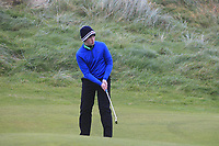 Nathaniel Bailie (Shandon Park) on the 12th green during Round 2 of the Ulster Boys Championship at Portrush Golf Club, Portrush, Co. Antrim on the Valley course on Wednesday 31st Oct 2018.<br /> Picture:  Thos Caffrey / www.golffile.ie<br /> <br /> All photo usage must carry mandatory copyright credit (&copy; Golffile | Thos Caffrey)