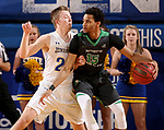 BROOKINGS, SD - DECEMBER 12: Reed Tellinghuisen #23 from South Dakota State applies pressure to Cortez Seales#15 from North Dakota during their game Tuesday night at Frost Arena in Brookings, SD. (Photo by Dave Eggen/Inertia)