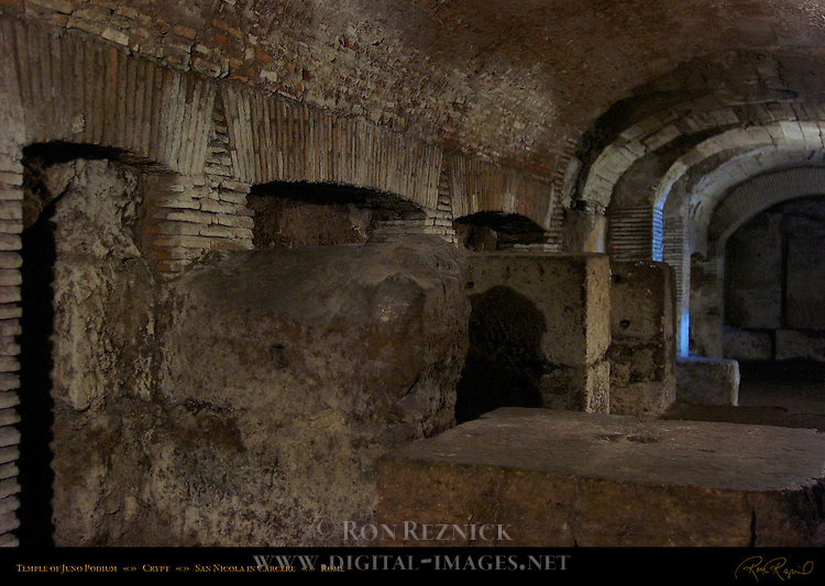 Podium Temple of Juno Sospita 194 BC Crypt San Nicola in Carcere Rome