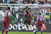 Raheem Sterling of Manchester City heads over during West Ham United vs Manchester City, Premier League Football at The London Stadium on 10th August 2019