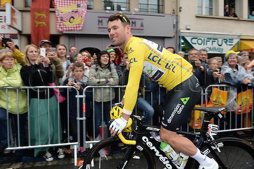 03.07.2016. Normandy, France. Tour de France Stage 2 from Saint-Lo to Cherbourg en-Cotentin.  Dimension Data; Cavendish, Mark;