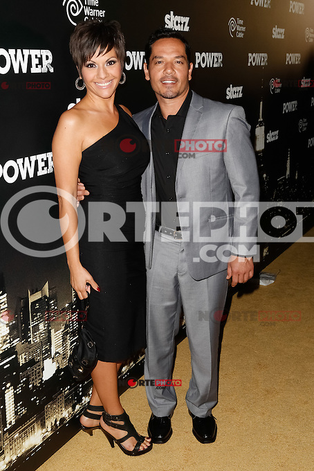New York, NY -  June 2 : Actor Greg Serano and Guest attend the Power Premiere held at the Highline Ballroom on June 2, 2014 in New York City. Photo by Brent N. Clarke / Starlitepics
