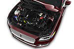 Car Stock 2017 Lincoln Continental Reserve 4 Door Sedan Engine  high angle detail view