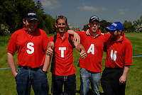 Mark Staunton fan club following their player on he 8th hole during the first round of the 2008 Irish Open at Adare Manor Golf Resort, Adare,Co.Limerick, Ireland 15th May 2008 (Photo by Eoin Clarke/GOLFFILE)