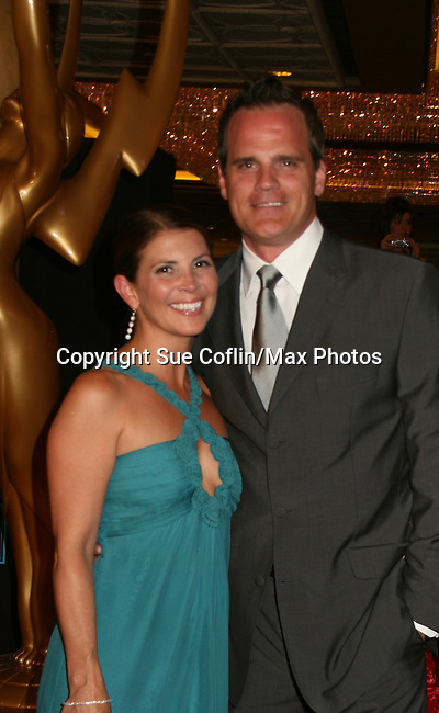 As The World Turns' Michael Park - Lead Actor Nominee and WINNER - with his wife Laurie on the Red Carpet - 37th Annual Daytime Emmy Awards on June 27, 2010 at Las Vegas Hilton, Las Vegas, Nevada, USA. (Photo by Sue Coflin/Max Photos)