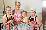 Children attending the Kids Baking summer camp in Collis Sands House, Tralee on Wednesday were l-r: Katie Nagle, Amy Burke, (Instructer) Riadh O'Sullivan and Rachel Dunne.