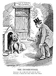 "The Incorruptible. Plutocrat. ""Is a sop of any use to you?"" Watchdog. ""I have no idea what you mean."" (the British Bulldog is offered a bone of money while at his Party Government dog house at the Temple of Honours Back Entrance during the InterWar era)"