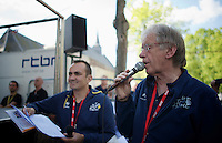 Le Tour de France speaker &quot;The Voice&quot;  Daniel Mangeas<br /> <br /> La Flèche Wallonne 2014