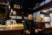 Machiya owners Keiichi and Kumiko Kikkawa, Murakami-city, Niigata Prefecture, Japan, February 4, 2013. The snowy city in Northern Japan is famous for hot-springs, tea and salt salmon.