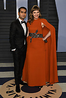 04 March 2018 - Los Angeles, California - Kumail Nanjiani, Emily V. Gordon. 2018 Vanity Fair Oscar Party hosted following the 90th Academy Awards held at the Wallis Annenberg Center for the Performing Arts. <br /> CAP/ADM/BT<br /> &copy;BT/ADM/Capital Pictures