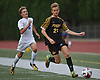 Andrew Weltner #21 of St. Anthony's, right, chases after a loose ball during a Nassau-Suffolk CHSAA varsity boys soccer game against host Kellenberg High School on Thursday, Sept. 21, 2017. St. Anthony's won by a score of 1-0.