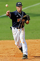 24 February 2008: Florida International third baseman Corey Lozano (1) throws to first in the Southern California 12-7 victory over FIU at University Park Stadium in Miami, Florida.