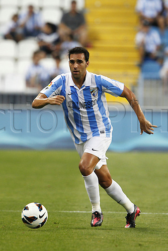 "11.08.2012. Malaga, Spain.  Jesus Gamez (Malaga),  Pre season match ""Trofeo Costa del Sol"" between Malaga and Everton, at the Rosaleda Stadium, Malaga, Spain, August 11, 2012."