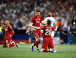 Liverpool's FC James Milner and Liverpool's FC Andy Robertson during UEFA Champions League match, Final Roundl between Tottenham Hotspur FC and Liverpool FC at Wanda Metropolitano Stadium in Madrid, Spain. June 01, 2019.(Foto: nordphoto / Alterphoto /Manu R.B.)