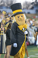 Annapolis, MD - December 27, 2016: Wake Forest Demon Deacons mascot during game between Temple and Wake Forest at  Navy-Marine Corps Memorial Stadium in Annapolis, MD.   (Photo by Elliott Brown/Media Images International)