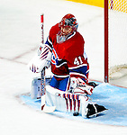 6 February 2010: Montreal Canadiens' goaltender Jaroslav Halak makes a third period save against the Pittsburgh Penguins at the Bell Centre in Montreal, Quebec, Canada. The Canadiens defeated the Penguins 5-3. Mandatory Credit: Ed Wolfstein Photographer