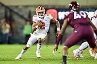 Blacksburg, VA - SEPT 30, 2017: Clemson Tigers quarterback Kelly Bryant (2) in action during game between Clemson and Virginia Tech at Lane Stadium/Worsham Field Blacksburg, VA. (Photo by Phil Peters/Media Images International)
