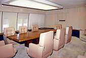 Interior of the conference / dining room aboard Air Force One on or about September 27, 1990.  This is a contractor photo released by the United States Department of Defense (DoD)..Credit: DoD via CNP