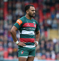 Leicester Tigers' Telusa Veainu <br /> <br /> Photographer Stephen White/CameraSport<br /> <br /> Gallagher Premiership Round 2 - Leicester Tigers v Newcastle Falcons - Saturday September 8th 2018 - Welford Road - Leicester<br /> <br /> World Copyright &copy; 2018 CameraSport. All rights reserved. 43 Linden Ave. Countesthorpe. Leicester. England. LE8 5PG - Tel: +44 (0) 116 277 4147 - admin@camerasport.com - www.camerasport.com