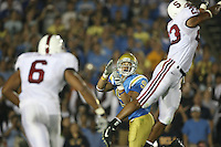 1 October 2006: Brandon Harrison tips a pass for an interception during Stanford's 31-0 loss to UCLA at the Rose Bowl in Pasadena, CA.