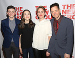Buster Whaley, Tallulah Whaley, Heather Whaley and Frank Whaley attends the opening night party for the New Group Production of Wallace Shawn's  'Evening at the Talk House' at Green Fig Urban Eatery on 2/16/2017 in New York City.