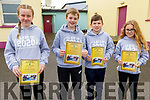 Charlie Corridon, Adam Thornton, Eamonn Harty and Jenna Lynch graduating from Glenderry NS on Friday