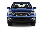 Car photography straight front view of a2014 Ssangyong Actyon Sports Quartz 4 Door Pick Up Front View