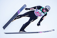 1st January 2020, Olympiaschanze, Garmisch Partenkirchen, Germany, FIS World cup Ski Jumping, 4-Hills competition; Piotr Zyla of Poland during his trial Jump for the Four Hills Tournament
