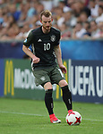 Germany's Maximilian Arnold in action during the UEFA Under 21 Semi Final at the Stadion Miejski Tychy in Tychy. Picture date 27th June 2017. Picture credit should read: David Klein/Sportimage