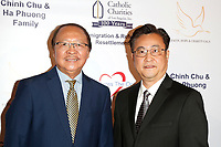 BURBANK - APR 27: Nam Loc Nguyen, Steve Lee at the Faith, Hope and Charity Gala hosted by Catholic Charities of Los Angeles at De Luxe Banquet Hall on April 27, 2019 in Burbank, CA