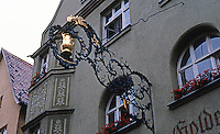 Dinkelsbuhl: Wrought iron sign.