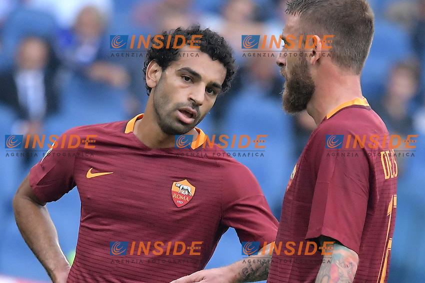 Mohamed Salah e De Rossi Roma.<br /> Roma 11-09-2016  Stadio Olimpico<br /> Campionato Serie A,<br /> AS Roma - Sampdoria<br /> Foto Antonietta Baldassarre / Insidefoto